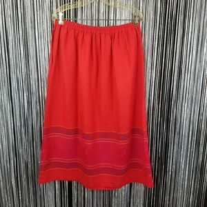 Plus vintage shimmery red design skirt